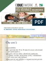 slides servizio civile NAZIONALE VOLONTARIO