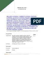 Genomic Testing Med Mal - Delaney Lonsway Cameryn Lonsway Michael Lonsway and Susan Lonsway Plaintiffs-Appellants v Yale Univesity