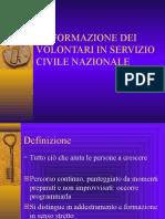 LA FORMAZIONE DEI VOLONTARI IN SERVIZIO CIVILE NAZIONALE-
