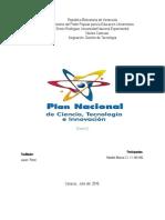 Plan Nacional de Ciencia y Tecnología e Innovación