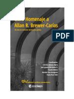 LIBRO HOMENAJE A ALLAN R. BREWER-CARÍAS. 80 años en la evolución del derecho público