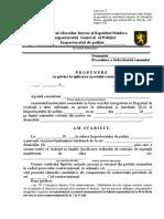 Anexa nr. 8 Propunerea agent constatator aplicarea arest contraventional