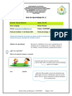 Guía # 2 lenguaje 6°