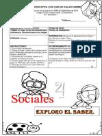 Guía Ciencias Sociales Grado Cuarto.