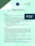 Thermodynamique II TD 05