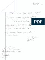 Larry King Handwritten Will