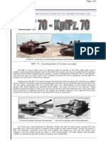 MBT 70 Experimental Main Battle Tank