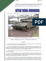 Merkava Modern Battle Tank