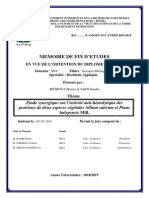 Etude Synergique Sur l'Activité Anti-hémolytique Des Protéines de Deux Espèces Végétales Allium Sativum Et Pinus Halepensis Mill