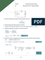 TD 1 + Solution - Fonctions de l'Électronique