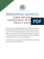 DIETA Y EJERCICIO FÍSICO RECOMENDACIONES DE LA OMS
