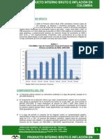 Producto Interno Bruto e Inflacion en Colombia