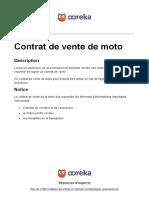 Ooreka Contrat de Vente de Moto