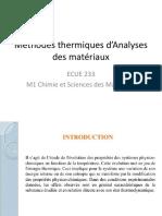 Polycop cours Analyses thermiques M1 CSM