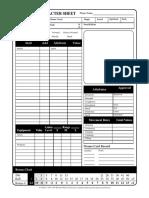 Character Sheet (1 Page)