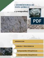 Rocas Sedimentarias No Clasticas