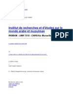 Le Maroc actuel - Les révoltes urbaines - Institut de recherches et d'études sur le monde arabe et musulman