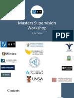 Masters Supervision Workshop