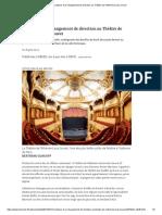 Coulisses d'un changement de direction au Théâtre de l'Athénée-Louis Jouvet