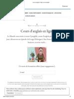 Cours d'anglais en ligne avec Gymglish
