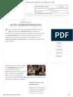 Definición de Acto Administrativo - Qué Es, Significado y Concepto