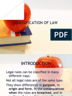 1.Classification of Law
