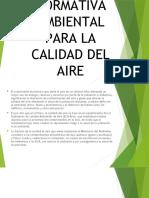Normativa Ambiental Para La Calidad Del Agua.