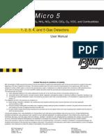 Manual Gas Alert Micro 5