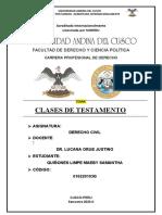 MONOGRAFIA CLASES DE TESTAMENTO