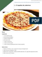 Pizzas - Coberturas