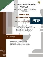 La Evolución de La Pena en El Perú