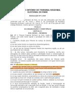 Resolução 2909_2002 - Regimento interno TRE PA