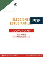 Manual de Votación - Elecciones Estudiantiles 2021-2022 Esfap Fl