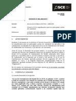 Opinión OSCE 032-13 - PRE - ASBANC - Impedimentos Para Ser Participante