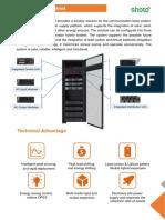 Smart Indoor Power Cabinet for Telecom