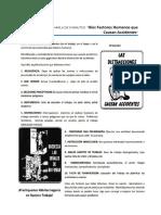 """Diez Factores Humanos que Causan Accidente"""