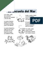 Ficha de La Escuela Del Mar Para Primaria