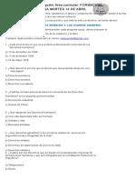 CUESTIONARIO FORMACIÓN CIUDADANA