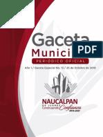 Naucalpan Gaceta Especial 13 25 de Octubre de 2019 081119