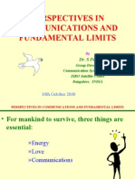 Perspectives in Communication and Fundamental Limits