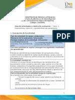Formato-Guia de actividades y Rúbrica de evaluación - Unidad  1 -Tarea 2 - Disposiciones, contexto y características del pensamiento (1)