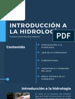 1. Introducción a la hidrología