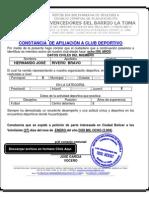 CONSEJO COMUNAL CONSTANCIA DE PERTENERCER A UN CLUB DEPORTIV