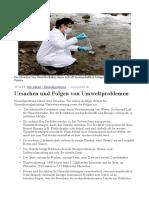 Umweltprobleme und Welternährung