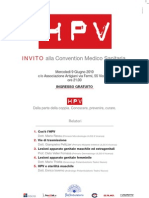 (eventi/conventions) Convention Medico Sanitaria HPV