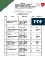Tematica sedintelor cu parintii  X.rtf