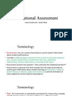 Educational Asessment 1