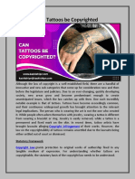 Can Tattoos be Copyrighted?