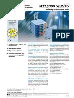 MTL 5000 Series Barriers Catalogue