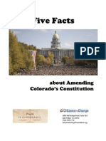Five Facts About Amending Colorado's Constitution